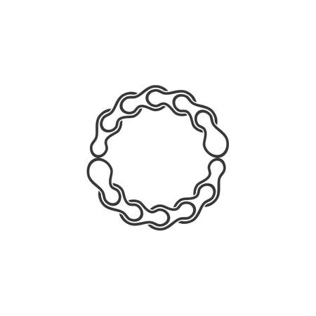 Bicycle Chain vector logo design template