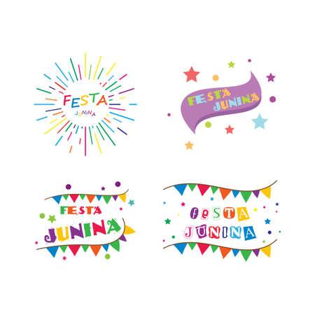 Festa junina celebration vector design template 向量圖像