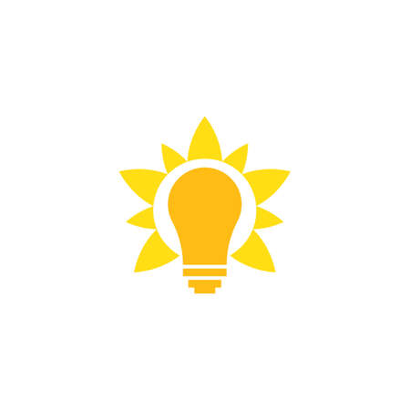 Bulb technology logo vector template