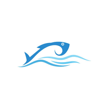 Fish Logo ilustration vector Template