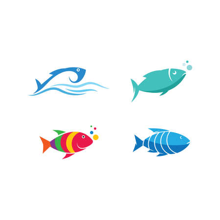 Fish  illustration vector Template