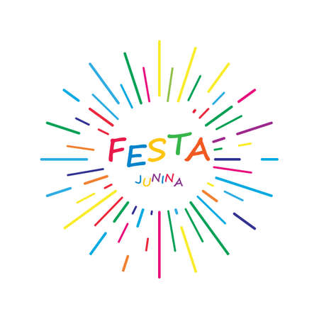 Festa junina celebration vector design template  イラスト・ベクター素材