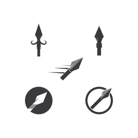 Spear logo and symbol vector design illustration