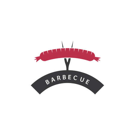 Sausage logo and symbol illustration vector design  イラスト・ベクター素材