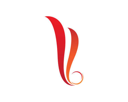 Fire flame   Template vector icon Oil, gas and energy   concept Standard-Bild