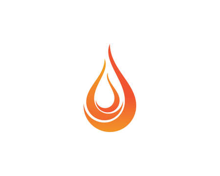 Fire flame   Template vector icon Oil, gas and energy   concept 矢量图像