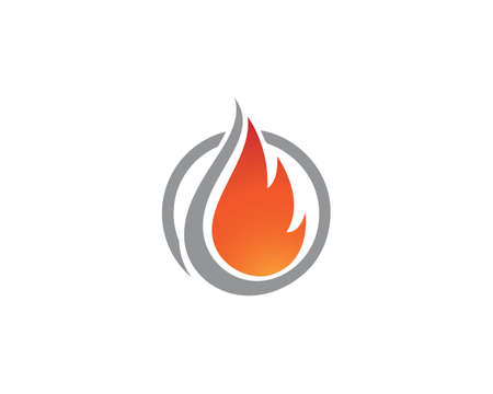 Fire flame   Template vector icon Oil, gas and energy 矢量图像