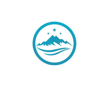 High Mountain icon    Business Template Vector Иллюстрация