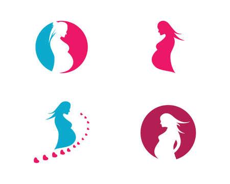 beauty pregnant women vector icon template 일러스트