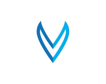 V Letter   Template vector illustration design 矢量图像