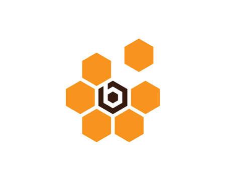 honey Bee   Template vector icon illustration design Banco de Imagens - 153378184