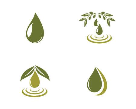 set of olive   template vector design