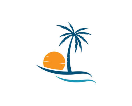 Palm tree    template illustration vector