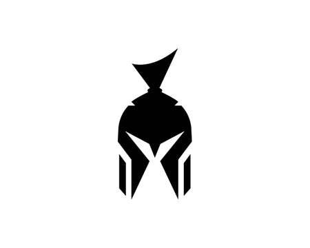 spartan helmet   vector icon template