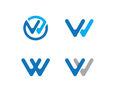 W Letter  Business Template Vector icon Ilustracja