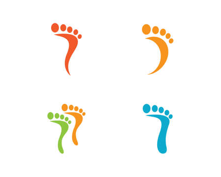 foot ilustration Logo vector Template