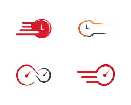 faster logo ilustration vector template Logo