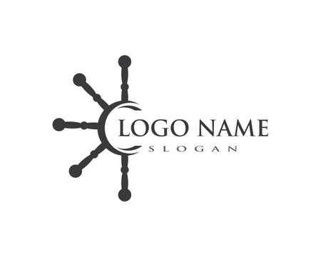 yacht Logo Template vector icon design