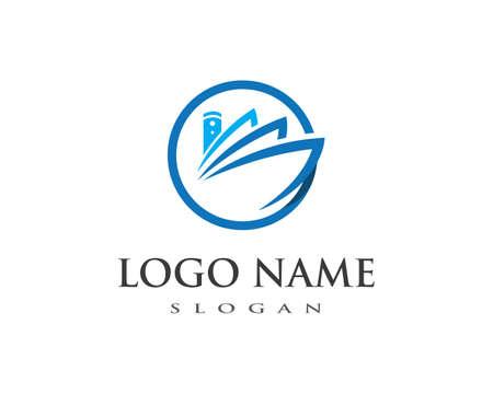 cruise ship Logo Template vector icon design Illustration