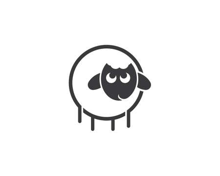 sheep  vector icon template