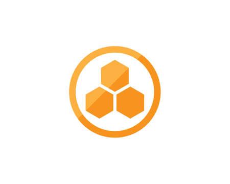 honey Bee  Template vector icon illustration design