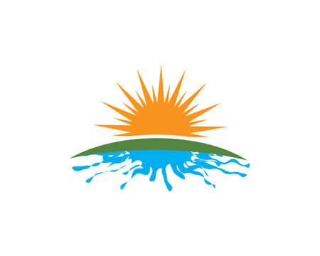 sun ilustration logo vector icon template Illusztráció