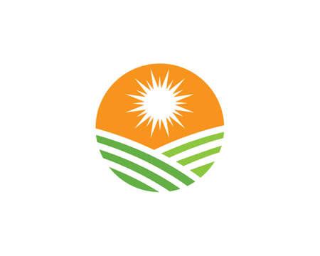 Farm logo vector icon template