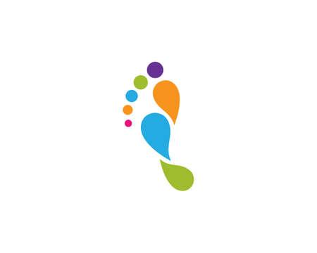 foot illustration  vector Template