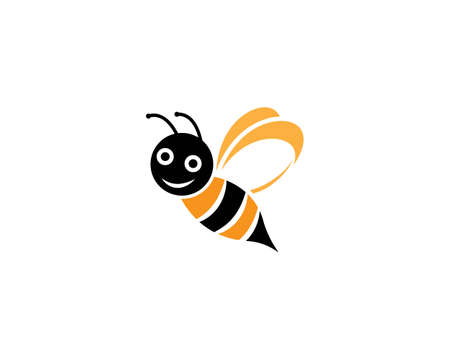 Bee  Template vector icon illustration design