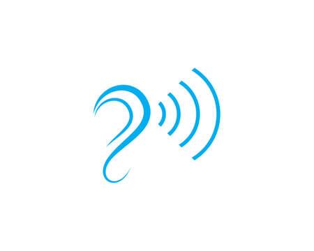 Hearing  Template vector icon design