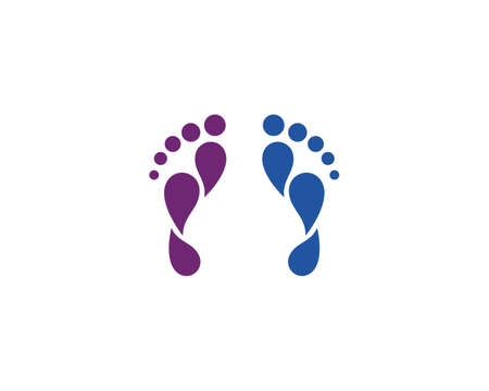 foot ilustration  vector Template
