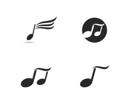 Music icon set, Illustration Ilustração
