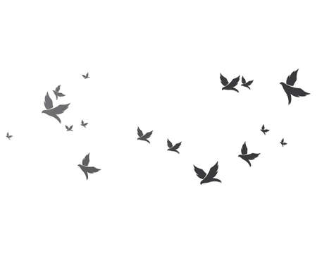 Bird background Template vector illustration Vettoriali