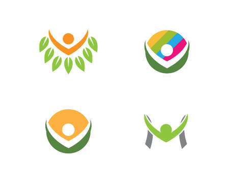 Healthy Life people   template vector icon
