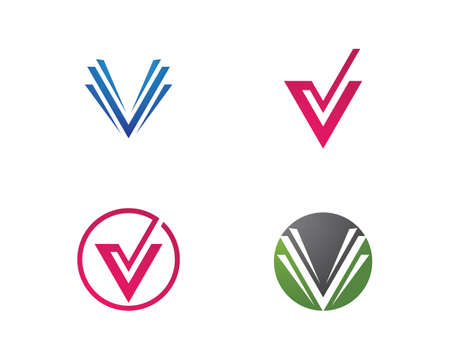 V Letter Template vector illustration design Vektoros illusztráció