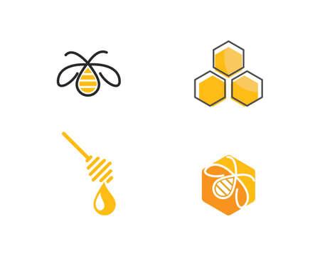 Honey Bee   Template vector icon illustration