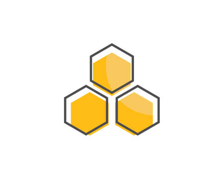 Honey Bee   Template vector icon illustration design