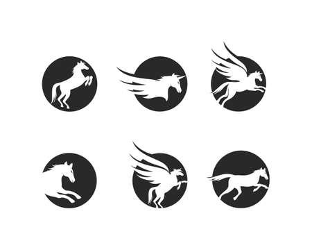 Horse Logo Template Vector illustration design Logo
