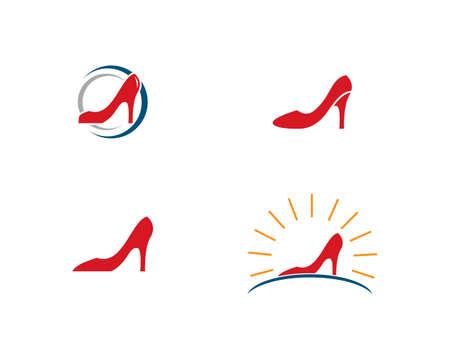 woman shoe ,High Heel logo vector template