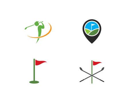 Golf Logo Template vector illustration icon design