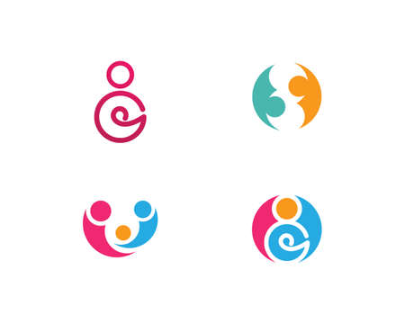 Fanily and community care Logo template vector icon