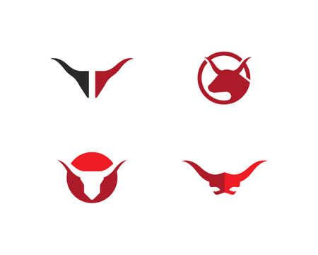 Taurus Template vector icon illustration Vettoriali