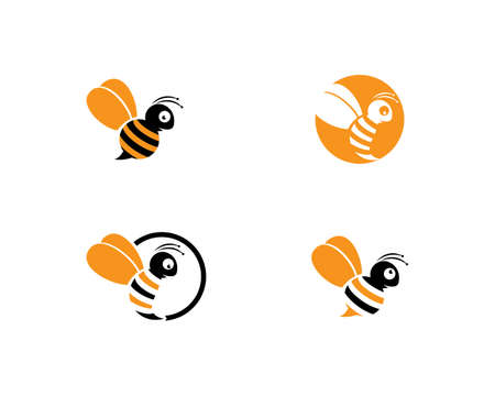 Bee   Template vector icon illustration design