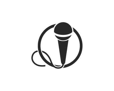 microphone icon vector template Ilustração