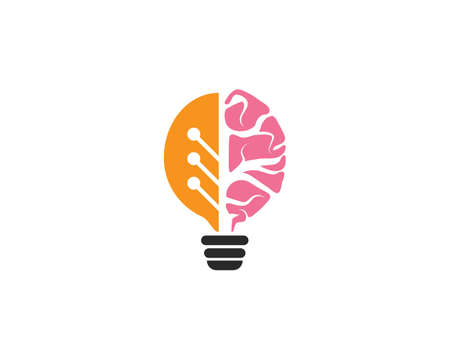 Brain   vector icon Template 일러스트