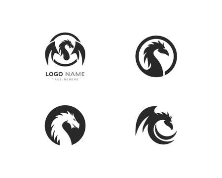 Dragon logo template vector illustration Logo