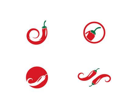 Chili symbol vector template