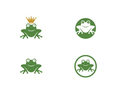 Frog symbol Template vector illustration