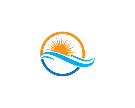 Water Wave symbol and icon   Template vector Ilustração