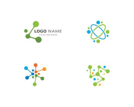 molecule   vector icon template 일러스트
